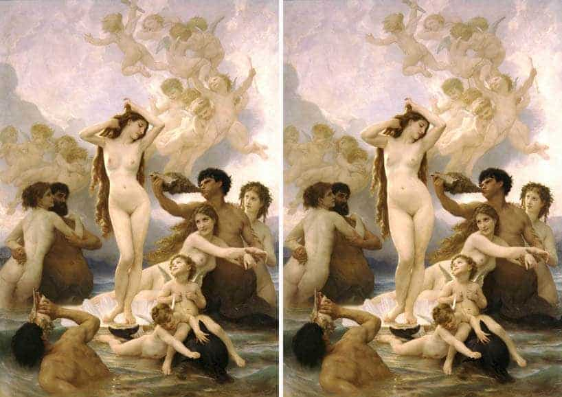 'the birth of venus' by william-adolphe bouguereau