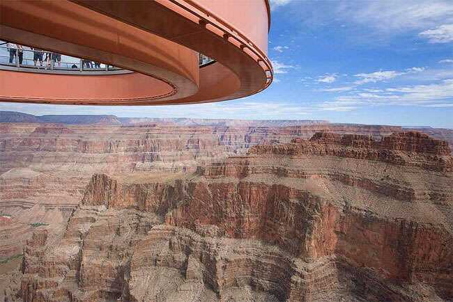 loopbrug boven Grand Canyon