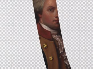 """My Button Is Bigger Than Your Button"" (Marquis De Lafayette, White House Art Collection Erasure No. 7)"