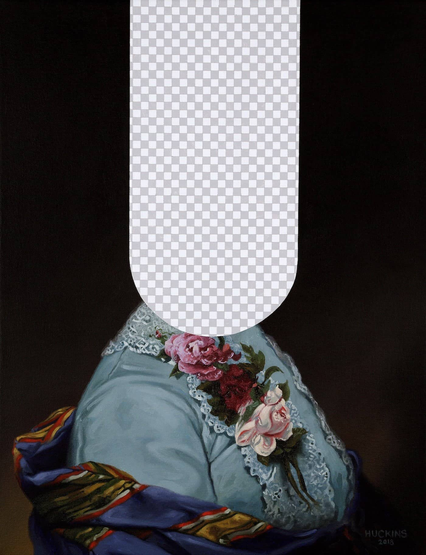 """""""Tell It Like It Was"""" (First Lady Caroline Harrison, White House Art Collection Erasure No. 3)"""