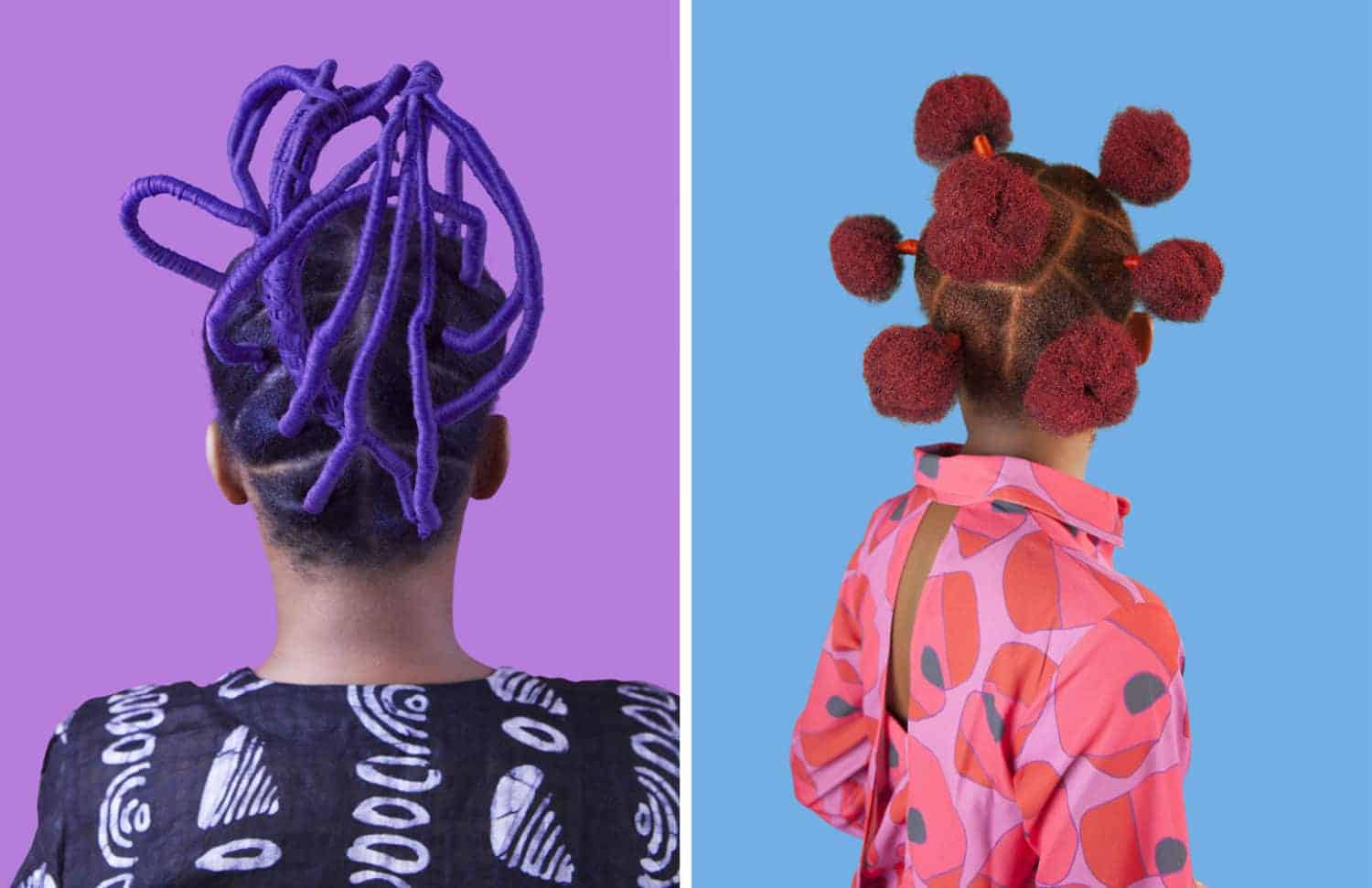 Links: Purple Irun Kiko / Rechts: Pink Buns