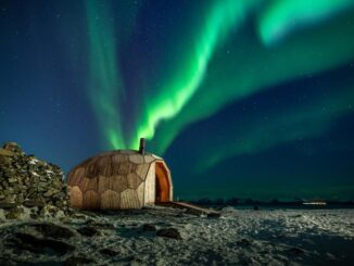 houten hut in Hammerfest