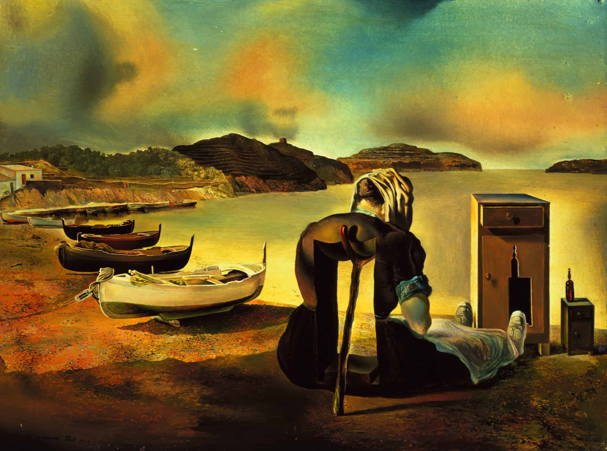Salvador DALÍ El desnonament del moble aliment (The Eviction of Furniture-Nutrition) The Weaning of Furniture-Nutrition Le Sevrage Du Meuble Aliment Het spenen van het voedsel-meubilair 1934 Oil on panel 17.78 x 24.13 cm Collection of The Dali Museum, St. Petersburg FL © Salvador Dalí, Fundació Gala-Salvador Dalí, (corresponding Rights Society), 2019