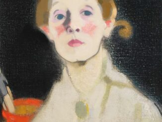 Helene Schjerfbeck - Self-portrait, Black Background, 1915. Photograph: Royal Academy of Arts
