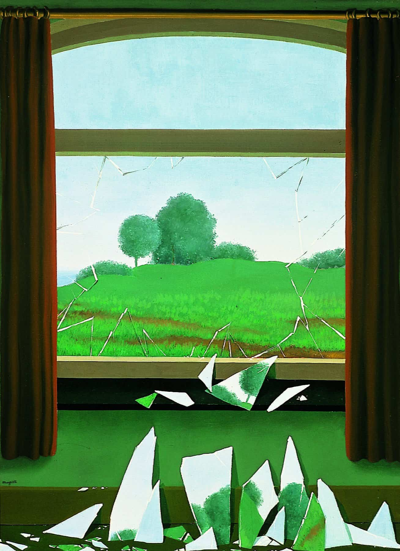 René MAGRITTE The key to the fields La clef des champs De sleutel tot de velden 1936 oil on canvas 80 x 60 cm Museo Nacional Thyssen-Bornemisza, Madrid, inv. no. 657 (1976.3) ©VEGAP, Madrid © 2019, Succession Magritte c/o SABAM