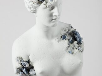 Blue Calcite Eroded Venus of Milo