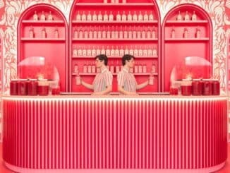 Maria Svarbova in het Museum of Ice Cream New York