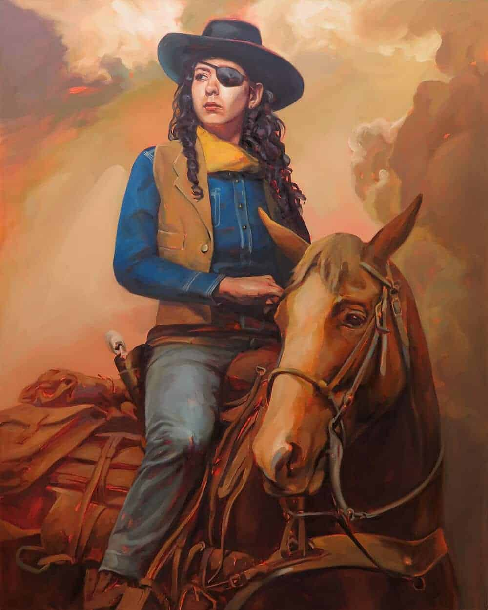 Rebekah Wayne in True Grit (Study), 2014. Oil on canvas, 30″ x 24″.