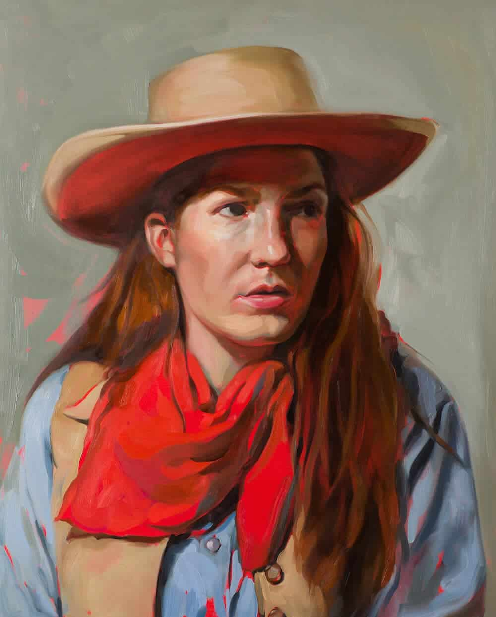 Virginia Wayne Portrait, 2013. Oil on canvas, 30″ x 24″.