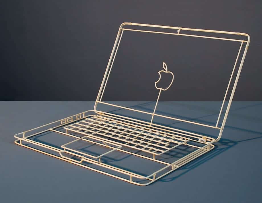 macbook van hout
