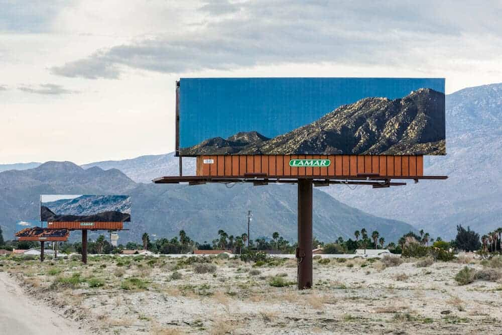 billboard met landschap