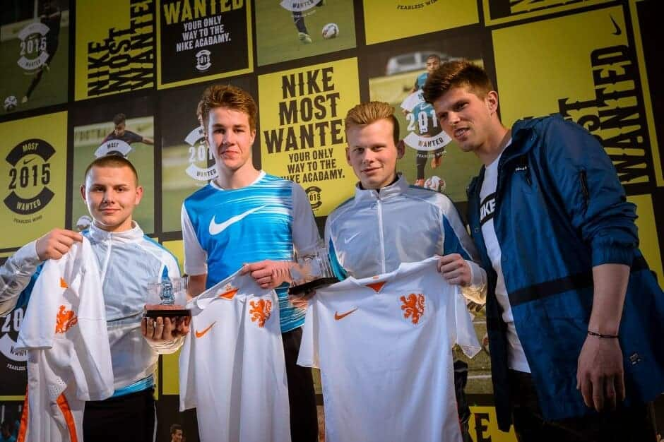 De winnaars van Nike Most Wanted en Klaas-Jan Huntelaar