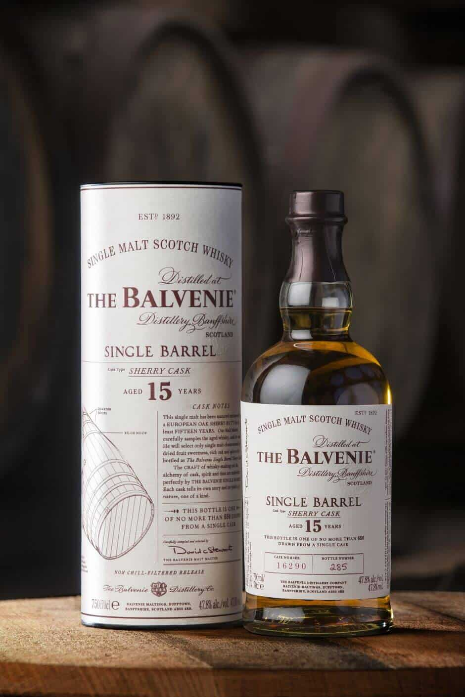 De nieuwste single barrel whisky van The Balvenie is de Single Barrel Sherry Cask