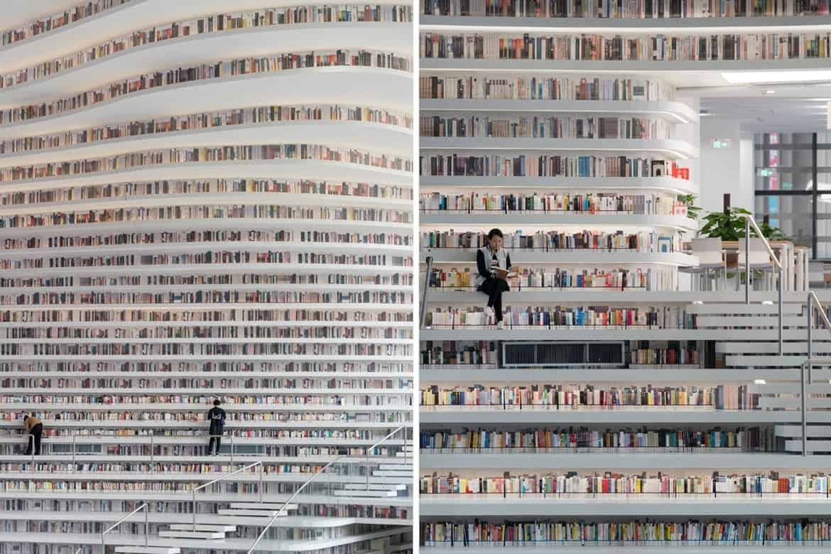 Bibliotheek in Tianjin door MVRDV