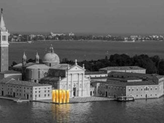 gold columns at the venice biennale 8