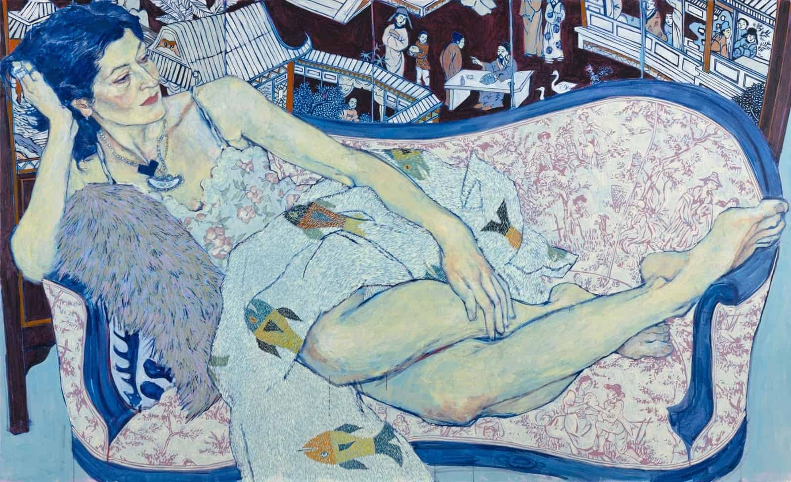 Queen Jane, Approximately, 2011, Acrylic on canvas. 66 x 108 in.