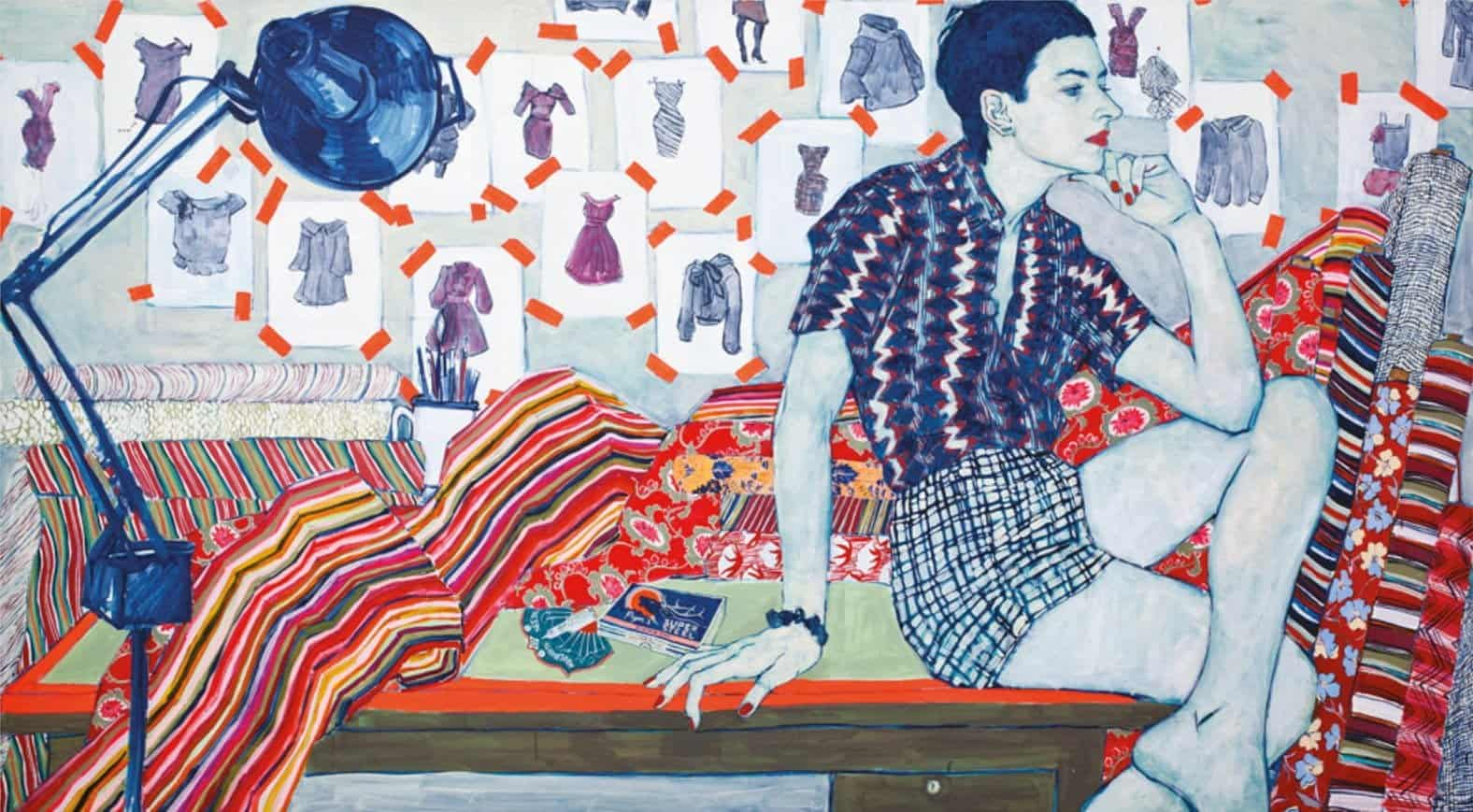 E. Starbuck, 2010, acrylic on canvas. 63 x 111 in.