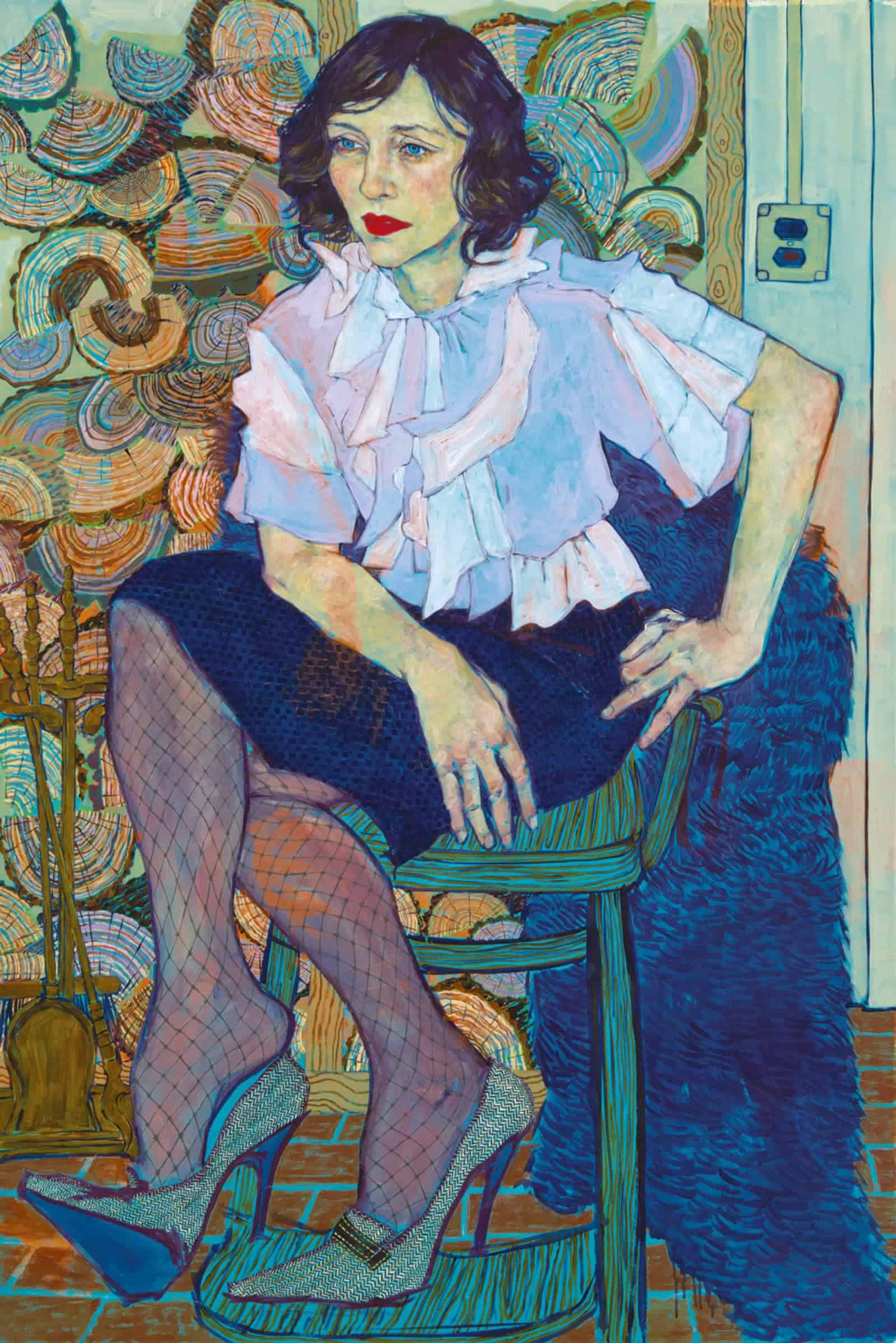 Vera, 2013, acrylic on canvas, 81 x 54 in.