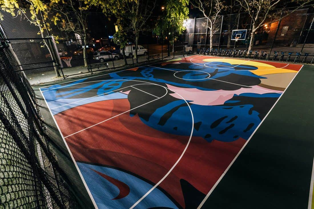 basketbalveld in Brooklyn