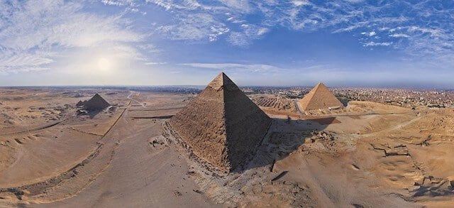 De piramides in Egypte