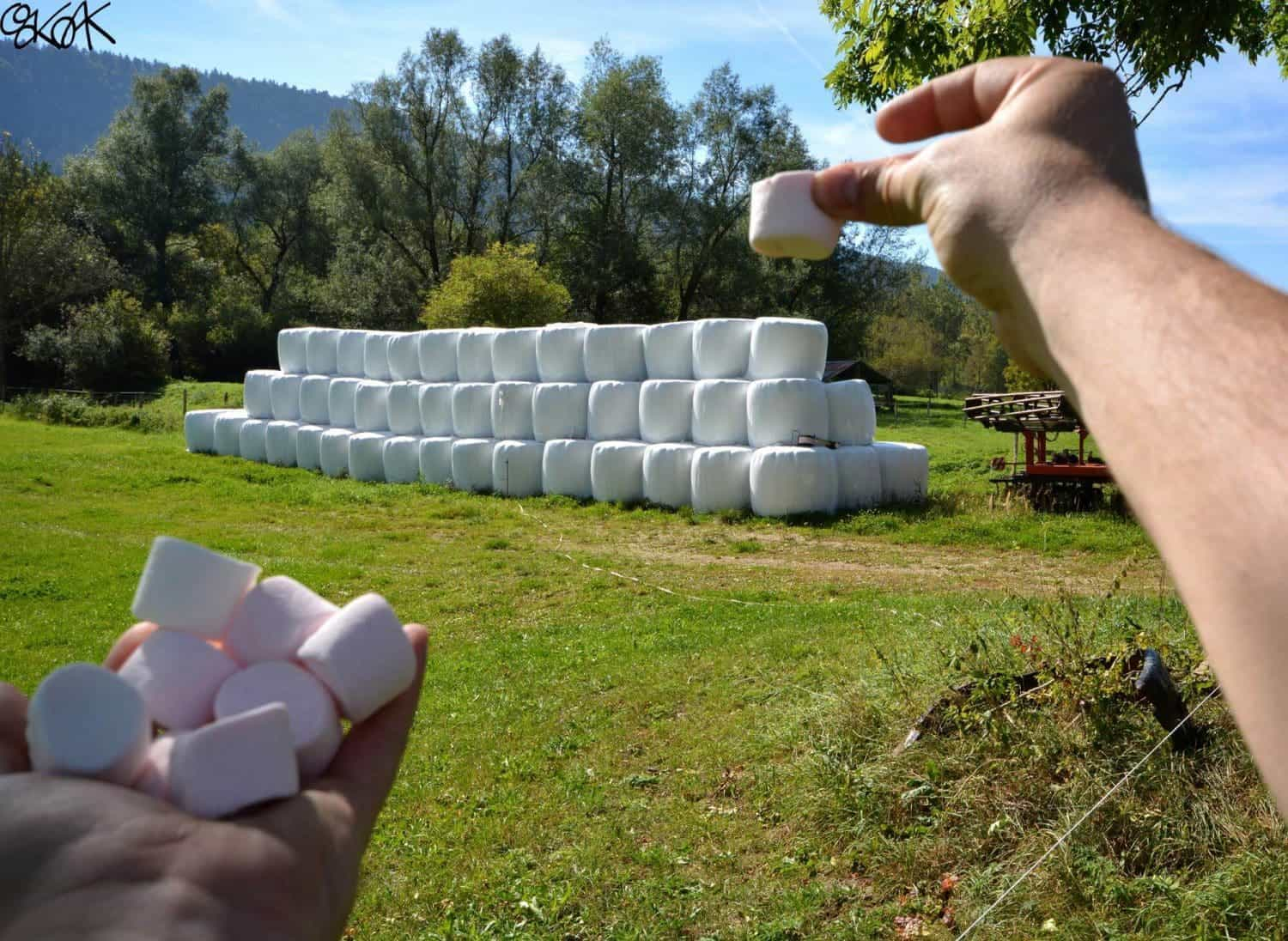 hooibalen en marshmallows