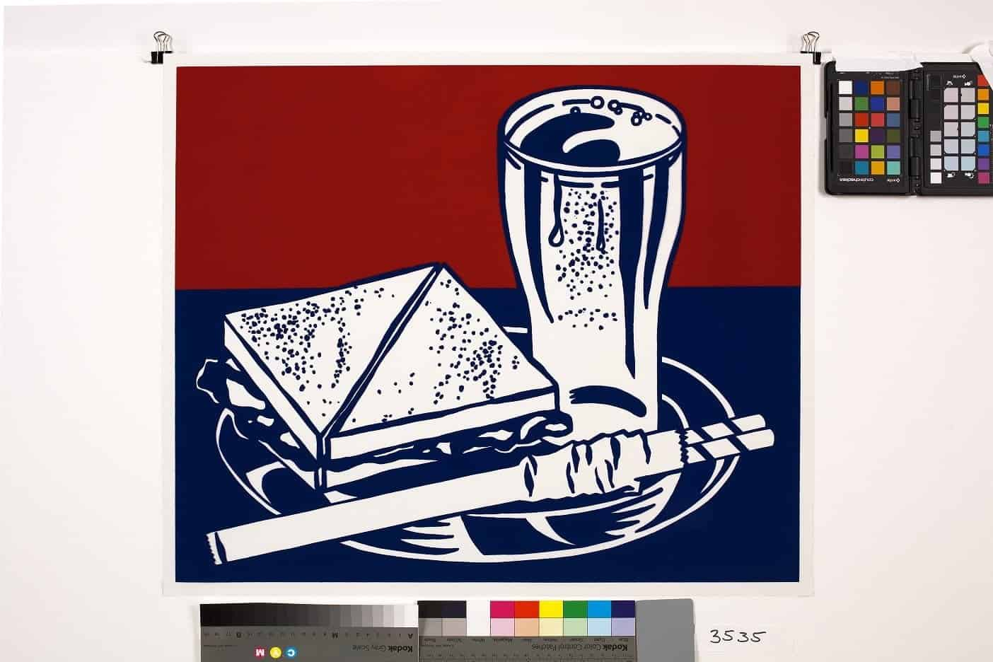 Roy Lichtenstein – Sandwich and Soda, 1964