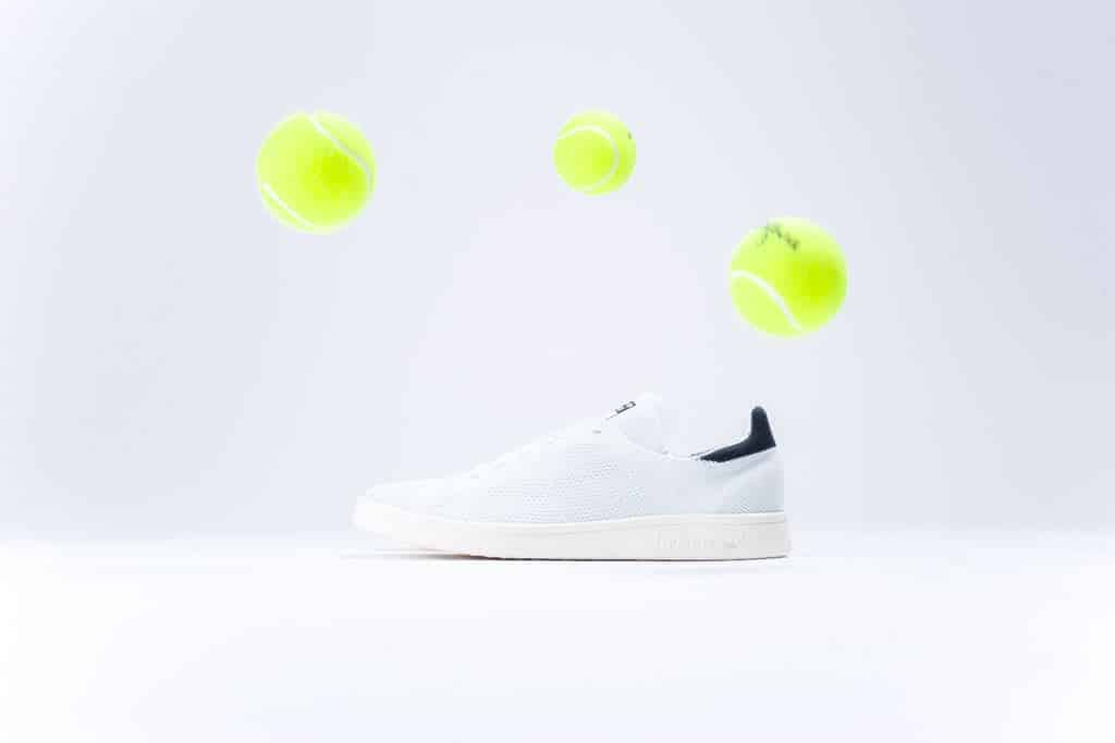 adidas Stan Smith Primeknit in wit met zwart